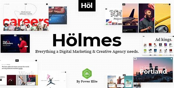 Holmes - 数字营销机构WordPrss主题-创客云