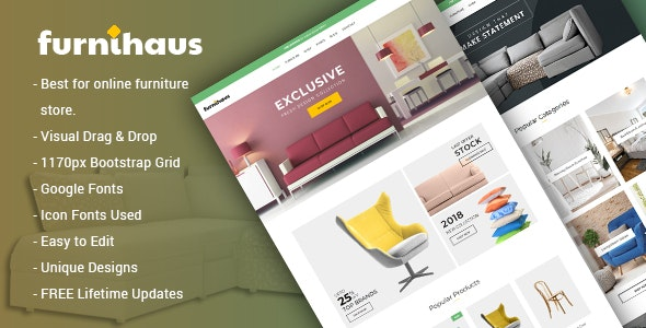 Furnihaus - 响应式家具电商 WooCommerce 模板-创客云
