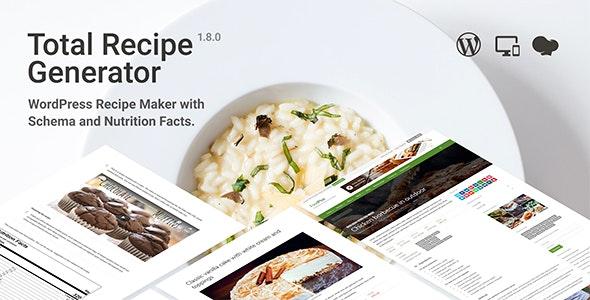 Total Recipe Generator - 食谱营养成分WordPress插件-创客云
