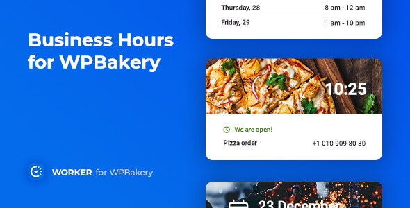 Business Hours for WPBakery – 工作时间营业时间插件-创客云