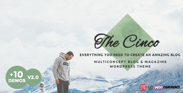 Cinco - 多概念优雅WordPress博客主题-创客云