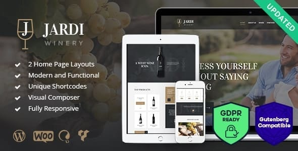 Jardi - 葡萄园红酒酒庄网站模板-创客云