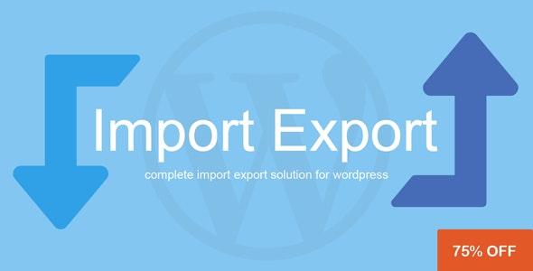 WP Import Export 内容导出导入插件-创客云