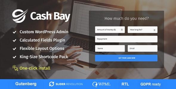 Cash Bay - 贷款信贷金融WordPress主题-创客云
