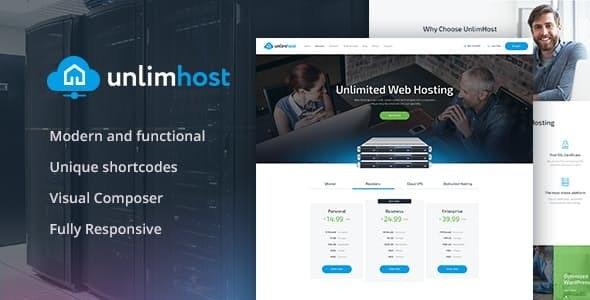 UnlimHost - 虚拟主机WordPress主题-创客云