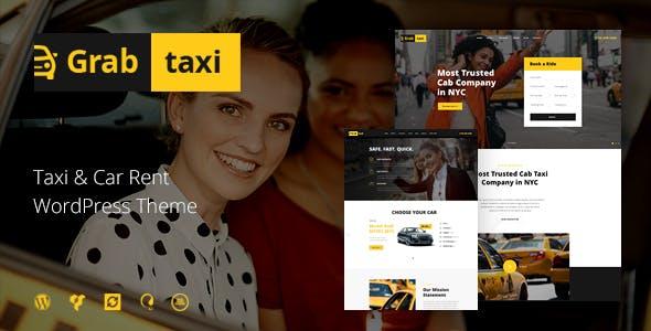 Grab Taxi - 在线出租车服务WordPress主题-创客云