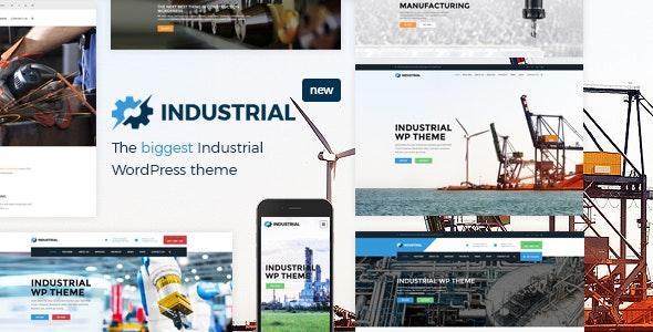 Industrial - 生产加工企业工业WordPress主题-创客云