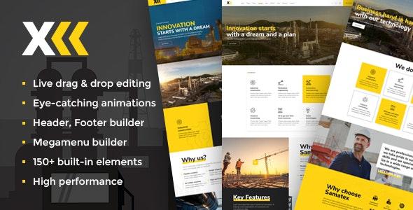 Samatex - 工厂企业WordPress模板-创客云