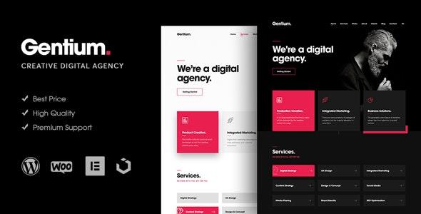 Gentium - 创意数字机构WordPress主题-创客云
