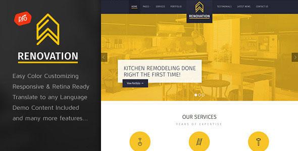 Renovation - 建筑公司网站WordPress主题-创客云