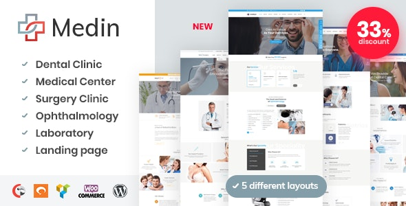 Medin - 医疗健康中心WordPress主题-创客云