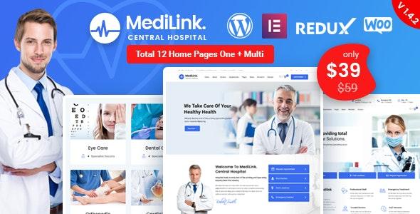 Medilink - 健康与医疗WordPress主题-创客云