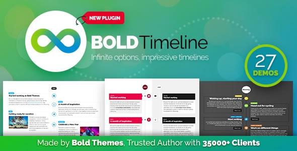 Bold Timeline - 多用途时间轴WordPress插件-创客云