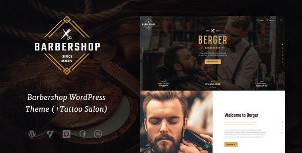 Berger - 理发店纹身WordPress主题-创客云