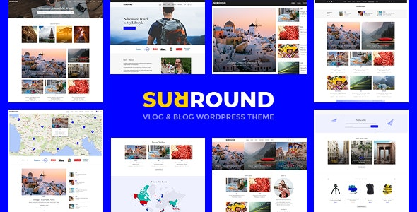 Surround - Vlog博客杂志WordPress主题-创客云