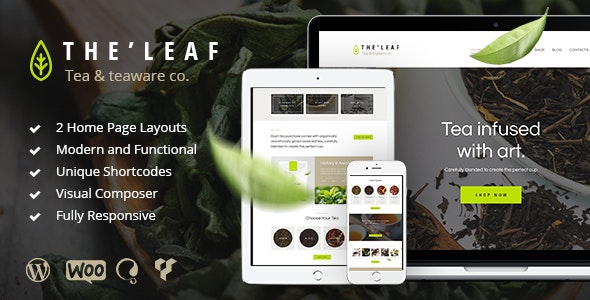 TheLeaf - 茶叶咖啡店WordPress主题-创客云