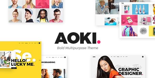 Aoki - 创意设计机构网站模板-创客云