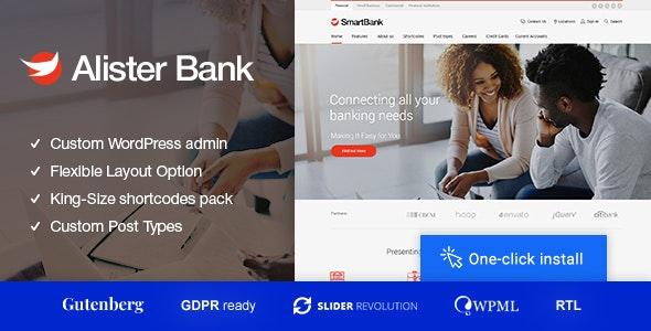 Alister Bank - 信贷金融银行WordPress主题-创客云