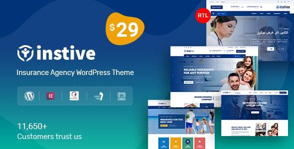 Instive - 金融保险行业网站WordPress主题-创客云