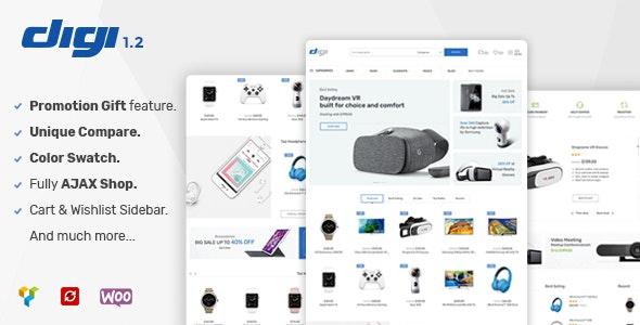 Digi - 网上商店WooCommerce电商模板-创客云