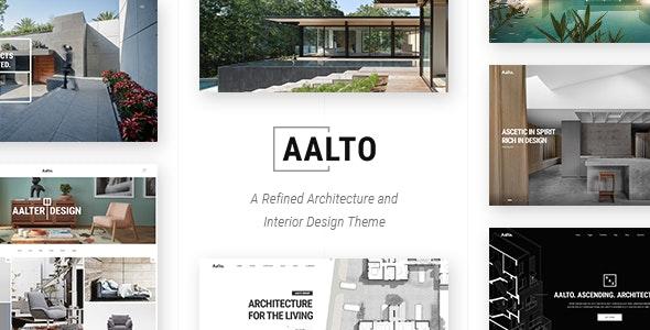 Aalto - 建筑室内设计网站WordPress主题-创客云