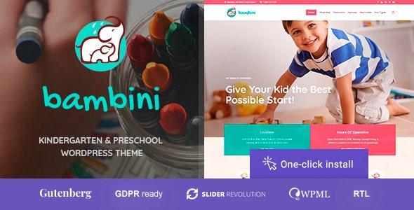 Bambini - 幼儿园学前教育WordPress主题-创客云