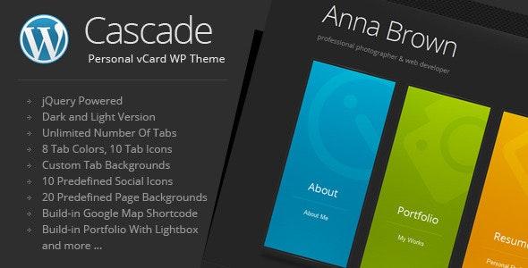 Cascade - vCard个人简历WordPress主题-创客云