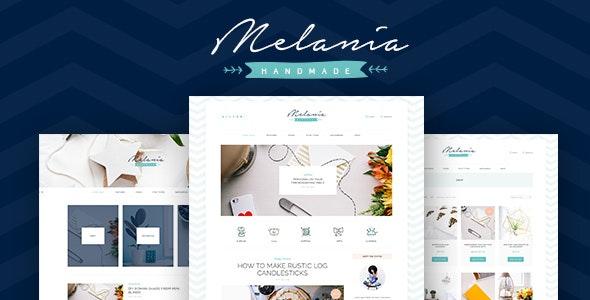 Melania - 工艺品博客商店WordPress主题-创客云