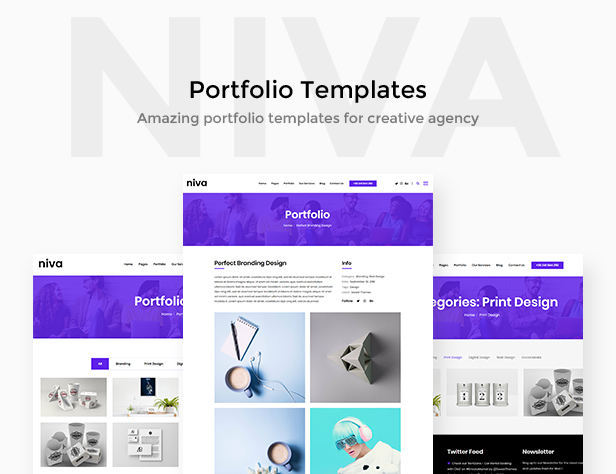 Niva - 创意多用途 WordPress 模板-创客云