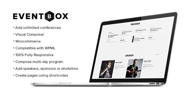 Eventbox - 俱乐部派对网站WordPress主题-创客云