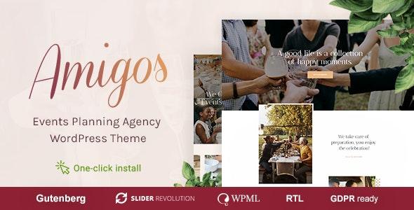 Amigos - 派对庆典活动机构WordPress主题-创客云