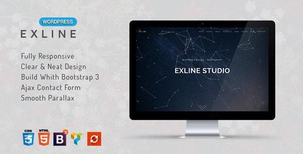Exline - 单页多用途WordPress主题-创客云