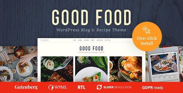Good Food - 食谱杂志食品博客WordPress主题-创客云