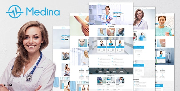 Medina – 响应式健康诊所WordPress主题-创客云