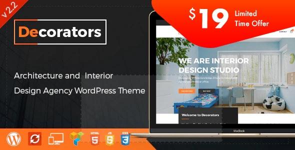 Decorators - 现代建筑室内设计工作室WordPress主题-创客云
