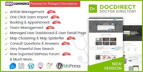 DocDirect -医生医疗保健WordPress主题-创客云