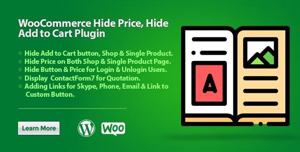 WooCommerce Hide Price Hide Add to Cart Plugin 隐藏价格隐藏添加到购物车插件-创客云