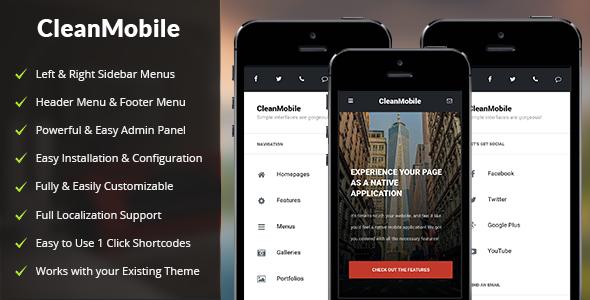 Clean Mobile - 移动设备手机WordPress模板-创客云
