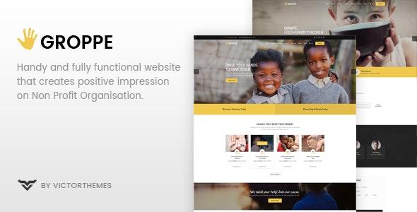 Groppe - 非营利公益WordPress主题-创客云