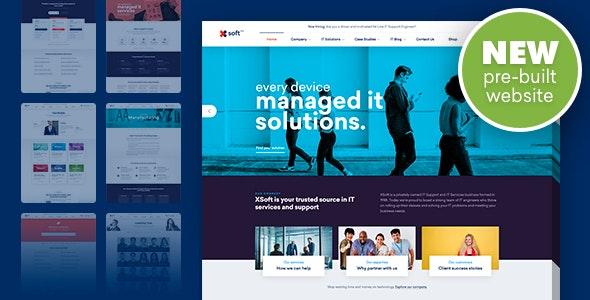 Nanosoft - IT服务解决方案公司网站模板-创客云