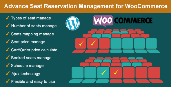 Advance Seat Reservation Management for WooCommerce 高级座位预订管理插件-创客云