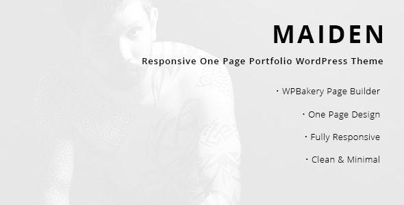 Maiden - 响应式个人产品展示WordPress模板-创客云