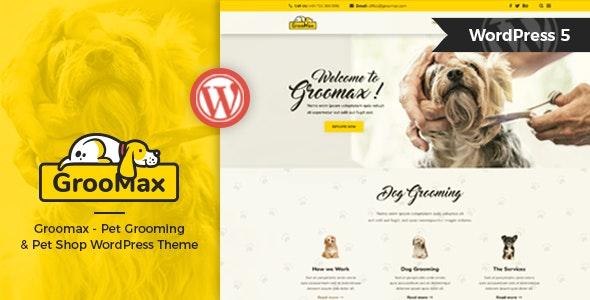Groomax - 宠物美容商店WordPress主题-创客云