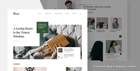 Doris - 创意博客杂志WordPress主题-创客云