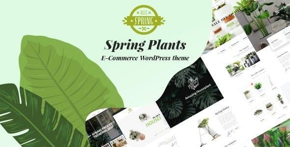 Spring Plants - 园艺室内植物WordPress主题-创客云