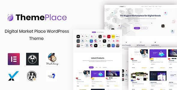 ThemePlace - 数字市场 WordPress 主题-创客云