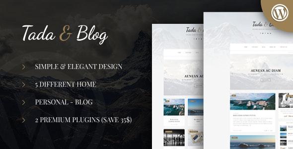 Tada & Blog - 专业个人博客WordPress模板-创客云