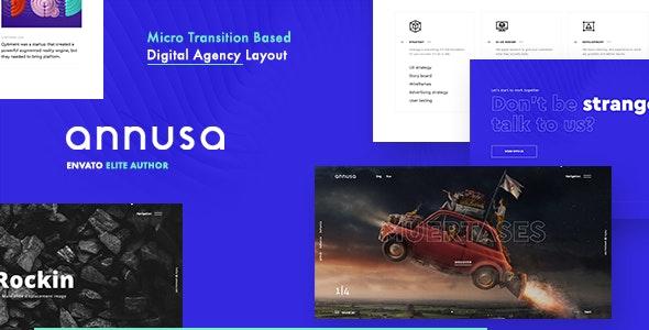 Annusa - 数字作品平面设计网站模板WordPress主题-创客云