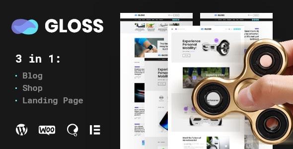 Gloss - 新闻杂志WordPress博客主题+商店-创客云