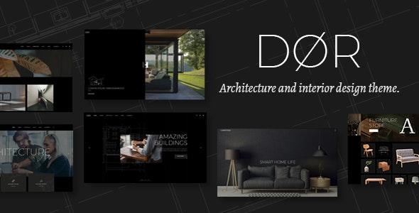 Dor - 现代建筑室内设计WordPress主题-创客云